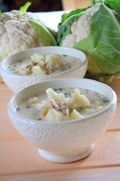 Zupa kalafiorowa Potato Soup, Potato Salad, Kinds Of Beans, Polish Recipes, Polish Food, Cauliflower Soup, Diet Tips, Cheeseburger Chowder, Soup Recipes