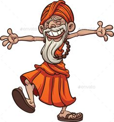 Buy Happy Guru by memoangeles on GraphicRiver. Happy and free cartoon guru. Vector clip art illustration with simple gradients. All in a single layer. Art And Illustration, Character Illustration, Library Icon, Cartoon Caracters, Funny Paintings, Watercolor Paintings, Free Cartoons, Indian Art Paintings, Clip Art