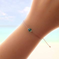 Aqua Emerald Crystal Friendship Bracelet - Best Friend Gift - Best Friend Bracelet - bridesmaid gift - Best Friend Birthday - Gift for her