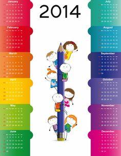 Cute Design Calendar 2014