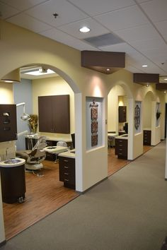dental office photos | Astonishing White and Grey Color Schemed Dental Office Interior Design ...
