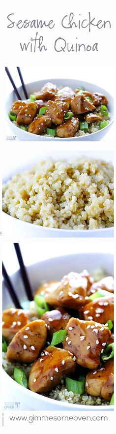 Sesame Chicken with Quinoa | FMD P1, P3 Sub arrowroot for cornstarch