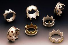 Beautiful crown rings by artist Daniela Hoffmann