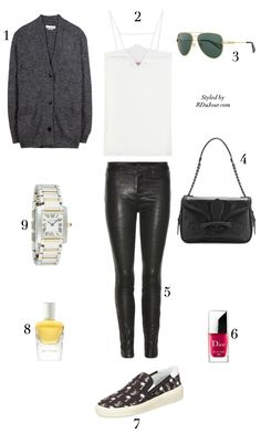 Outfit of the Day No.487 #OOTD Saint Laurent Paris Sneakers Isabel Marant Cardigan Vintage Cartier Watch Tamara Mellon Camisole Lanvin Aviat...