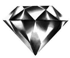 Resultado de imagen para diamond tattoo black and grey