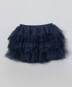 Another great find on #zulily! Navy Blue Ruffle Layer Tutu - Infant, Toddler & Girls #zulilyfinds