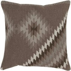 """Loon Peak Westall 100% Wool Throw Pillow Cover Size: 18"""" H x 18"""" W x 0.25"""" D, Color: Neutral\Green"""