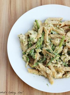 Healthy Chicken Penne Alfredo #betterforyou - Whats Cooking Love?
