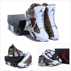 Loving this new leopard print Nike Air Jordan 13