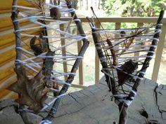 Outdoor Activities for Kids-Weaving with Sticks