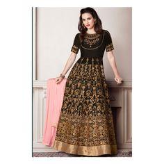 Buy Anarkali Suits and designer Anarkali Salwar Kameez at a great price. For largest collection of Anarkali Suit designs at parisworld. Floor Length Anarkali, Long Anarkali, Anarkali Dress, Lehenga Choli, Anarkali Churidar, Indian Anarkali, Pakistani, Abaya Fashion, Indian Fashion