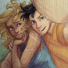 Percabeth selfie. I know I've pinned this over a million time, but it is my favorite Percabeth picture!