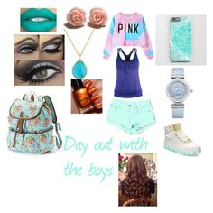 """Sidemen Outfit Imagines #4 Day Out W/ The Sidemen"" by supimnotcool ❤ liked on Polyvore featuring Black Diamond, Chicnova Fashion, Carmar, OMEGA, Ippolita, Bebe and Candie's"