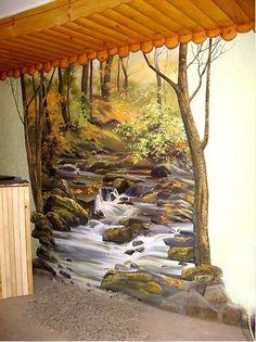 Сергей Брандт. Роспись стен. Третья - Mural wall : Russian painter