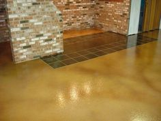 Stained Concrete floors look great and will last for a long time in Las Vegas, Nevada. Concrete Staining, Stained Concrete, Concrete Floors, Nevada, Tile Floor, Las Vegas, Living Spaces, Flooring, Interior