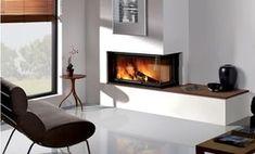 contemporary corner gas fireplace