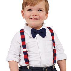 Suspender and Bow Tie Set by Mud Pie