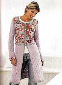 ~ Living a Beautiful Life ~ Needs short row shaping - crochet/tricot Crochet Coat, Crochet Jacket, Crochet Cardigan, Crochet Clothes, Knitted Coat, Freeform Crochet, Crochet Granny, Crochet Designs, Crochet Patterns