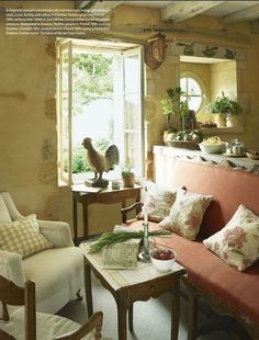 French farmhouse of antiques dealer in the Dordogne area of France