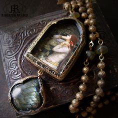 Ophelia Labradorite Pictorial Amulet Necklace.