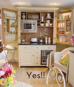 Pin 2 of 2:  Need a kitchen but don't have the space? Culshaw Bell's Complete Kitchen In A Cupboards comes with integrated sink, taps, microwave, fridge, induction hob and granite top. Basically, everything a kitchen needs and all for $7,400 U.S.#small_space_decorating, #Culshaw_Bell_kitchen_in_a_cupboard,