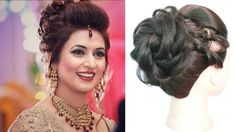 bun hairstyle with saree for short hair Very Easy Hairstyles, Saree Hairstyles, Easy Updo Hairstyles, Heatless Hairstyles, Cute Girls Hairstyles, Wedding Hairstyles, Bridal Hairstyle, Sari, Halle
