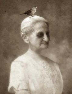 After her death, the Diddlys had forgotten to cancel old Granny Diddly's portrait and since the photographer had driven so far... they excused the morners for a few minutes, sat her up in her casket and let the photographer take one last photo. Everyone said she looked just like herself.  Carol