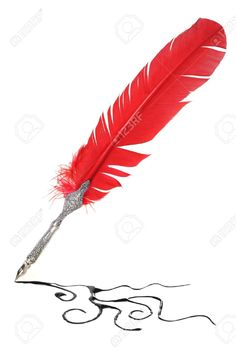 14661741-Red-and-silver-quill-drawing-Stock-Photo.jpg 866×1300 пикс