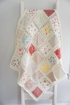 High Tea Crochet Fusion Quilt.  This beautiful!  But I don't know where to file it.  Quilts?  Yarn craft? Sewing?