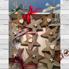 Stelle in legno Decorazioni natalizie