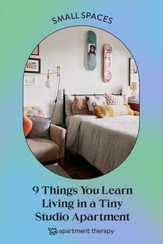 Below, the very best, useful, and absolutely timeless advice from four seasoned studio pros who have been successful studio dwellers, from seven months to nine years! Small Space Bedroom, Small Space Office, Small Space Storage, Small Space Kitchen, Small Space Organization, Small Laundry Rooms, Small Space Living, Small Spaces, Living Spaces
