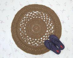 Fancy Handmade Round Jute Rug  Natural Fiber Mat  от Exotiflora