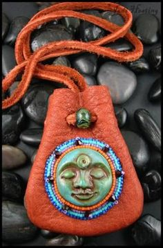 Leather medicine bag I made. Available on my website www.beadworx.com