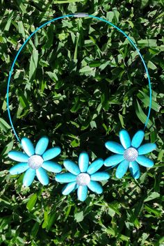 Necklace Stone Daisies Turquoise $29.99