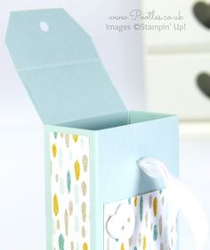 Stampin' Up! Demonstrator Pootles - Tag Topper Box Tutorial Open
