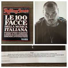 #Ensi Ensi: @rollingstoneitalia #100facce foto di @giovanni_gastel in edicola! Do the right thing!