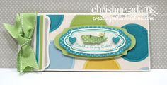 Creating with Christine: Dotty For You - Baby Boy Card