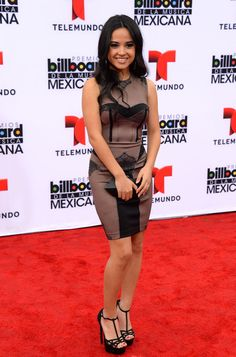 Becky G Photos - Becky G attends the 2013 Billboard Mexican Music Awards held at the Dolby Theatre on October 2013 in Hollywood, California. - Arrivals at the Billboard Mexican Music Awards Mode Chic, Mode Style, Becky G Album, Hot Dress, Peplum Dress, Becky G Hair, Becky G Style, G Photos, Dress And Heels