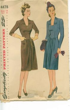 1940's Sewing Pattern  Frock with Sweetheart by shellmakeyouflip, $22.00