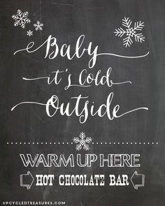 FREE Hot Chocolate Bar Printable - Upcycled Treasures