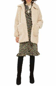 Main Image - Topshop Curly Faux Fur Coat