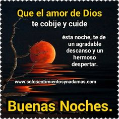 Solo sentimientos y nada mas : Buenas noches- Que el amor de Dios te cobije.