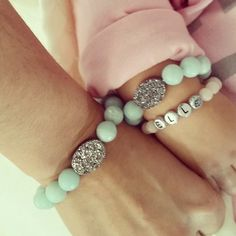 Our #mommyandme Bracelets from #starcode made by the beautiful & talented @imanlakhaniny - @babyellestyle- #webstagram