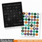 Halloween Countdown Calendar and Halloween Digital Collage Sheet - FREE download available on TeachersPayTeachers.com