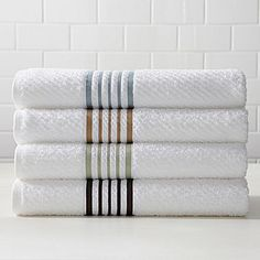 Linden Street™ Striped Quick-Dri Towels - jcpenney  (These for hand towels? and then solid wash cloths? or maybe just a big pack of wash cloths.)