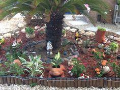 Empezando a ponerlo bello el jardín