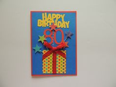 Birthday Card - 80th Free Shipping by LagniappeEmporium on Etsy