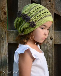 CROCHET PATTERN - Woodland Slouchy - crochet slouchy hat pattern, hat with…