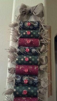 Up close of advent calendar!