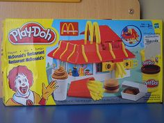 Don't eat the play doh  even if it's probably better for you than McDonalds hamburgers...